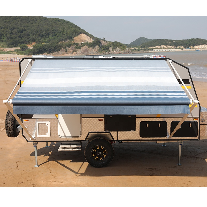 Caravan awning with LED strip Wareda factory direct sale rv awning