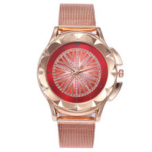 Новые женские часы, классические Geneva, роскошные женские часы, женские часы с полностью стальным кристаллом, Relogio Feminino Reloj Mujer, металлические н...(Китай)