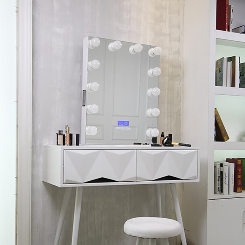 Новейшее зеркало для макияжа, голливудское зеркало со светодиодной подсветкой, металлическая рамка
