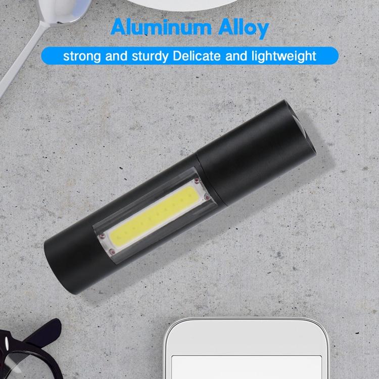 Portable Mini Pocket Torch light, Telescopic Zoom XPE COB ledflashlight, USB Rechargeable Flashlight Led