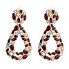 Color 1 rhinestone drop earrings