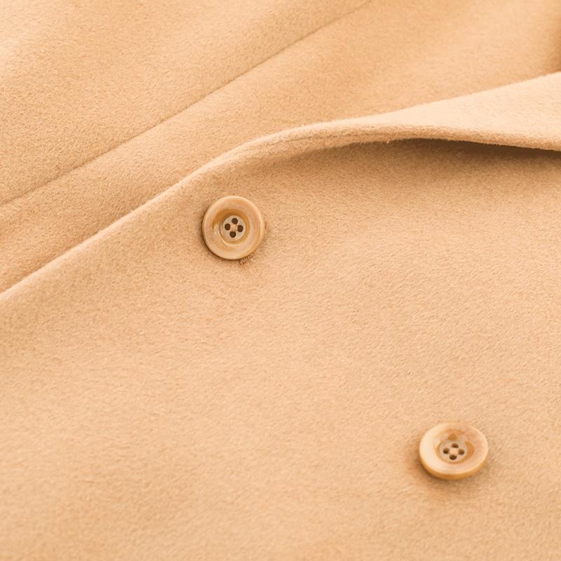 Huiquan, гладкий, оптовая продажа, женское Полушерстяное пальто длиной до колена, Женская полушерстяная верхняя одежда