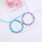 Bracelet Yiwu Factory Heishi Bead Polymer Clay Disc Wholesale Beach Style Multicolor Adjustable Slider Bracelet