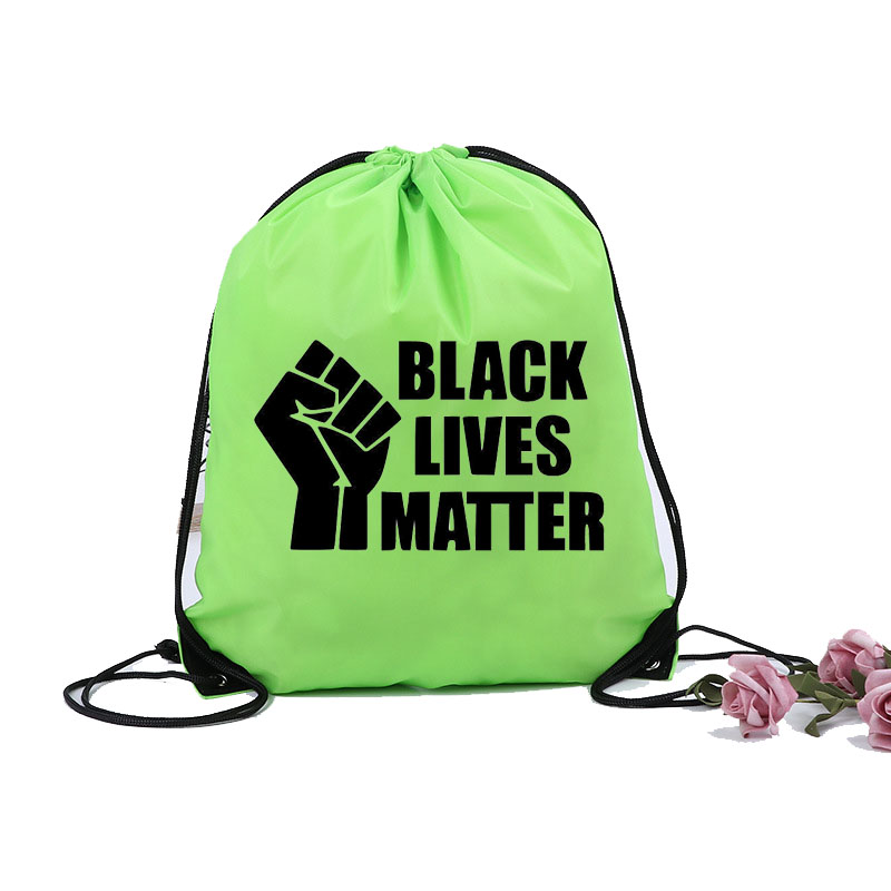 I Can't Breathe Sports black lives matter Sports Multifunctionalgift Travel Sports And Leisure Drawstring bag