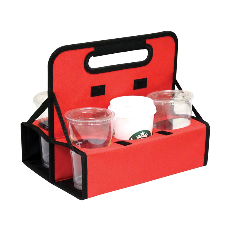 Cup carrier Reusable Folds Flat Sturdy Frame Insulated 6 and 3 grids beer Cans or Coffee drink Delivery Cups Carrier