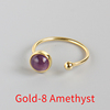 Gold-8 Amsethyst