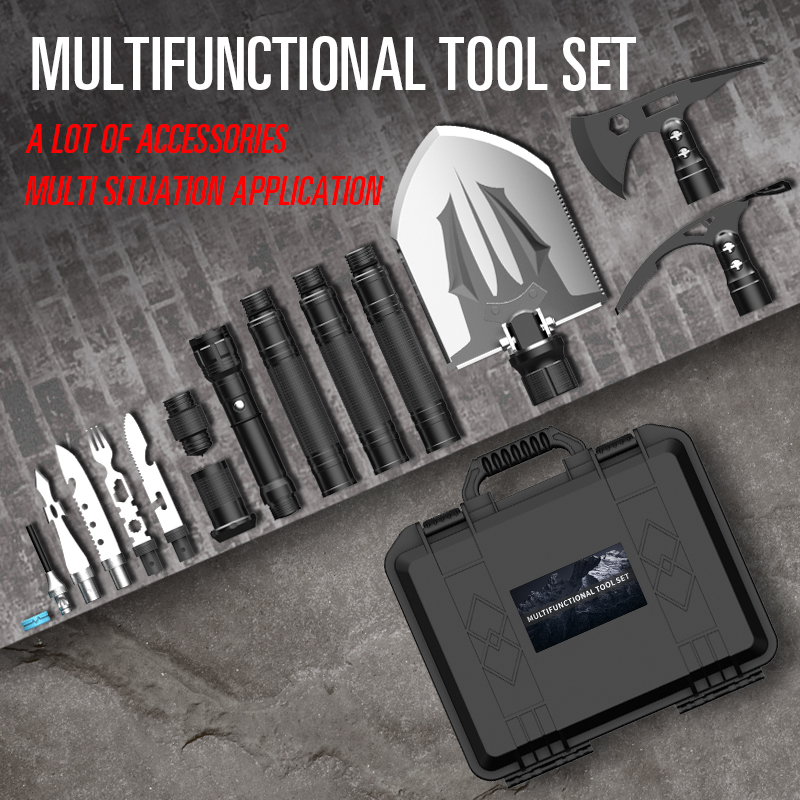 Multifunctional Shovel Tool Outdoor Survival Spade Axe Tactical Camping Military Folding Shovel Kits
