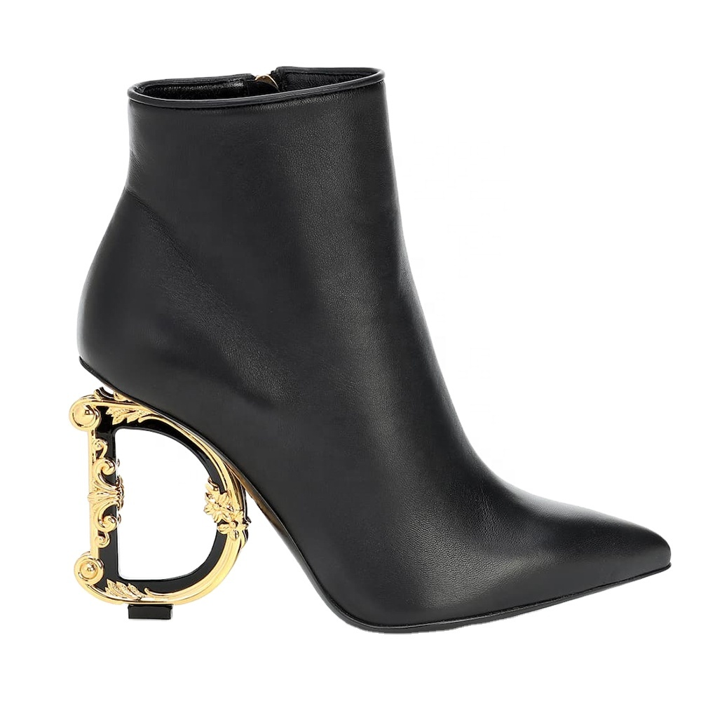 Letter Heel Boot 2020 Ladies Customized Design Ankle Boots
