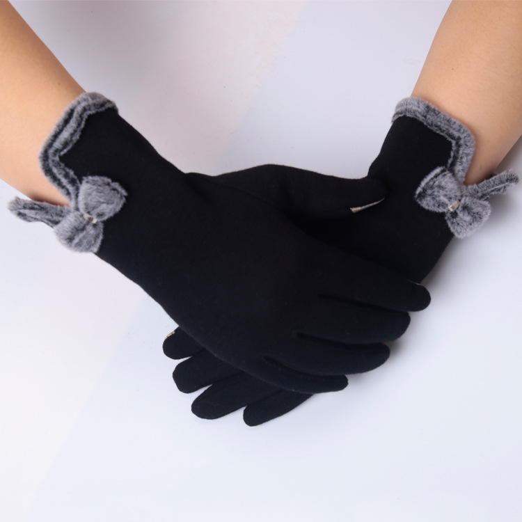 D1660 New Wholesale Women Winter knitted Glove Warm Touch Screen Gloves
