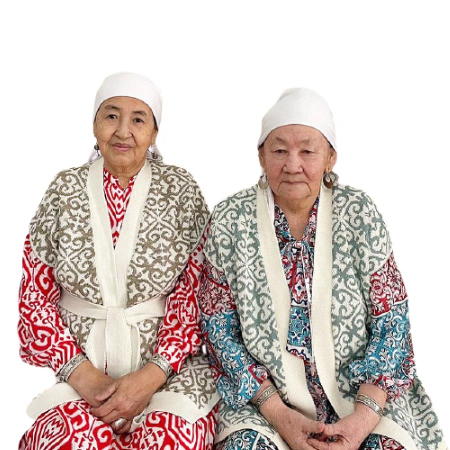 Модный женский вязаный шерстяной жилет Tengri белый цвет с принтом