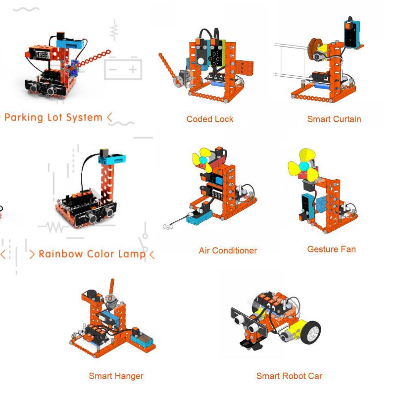 OEM/ODM Роботизированный проектный комплект, робот, стартовый комплект, DIY STEM, игрушки, Arduino RJ11, образовательный программируемый набор для программирования, управление через приложение