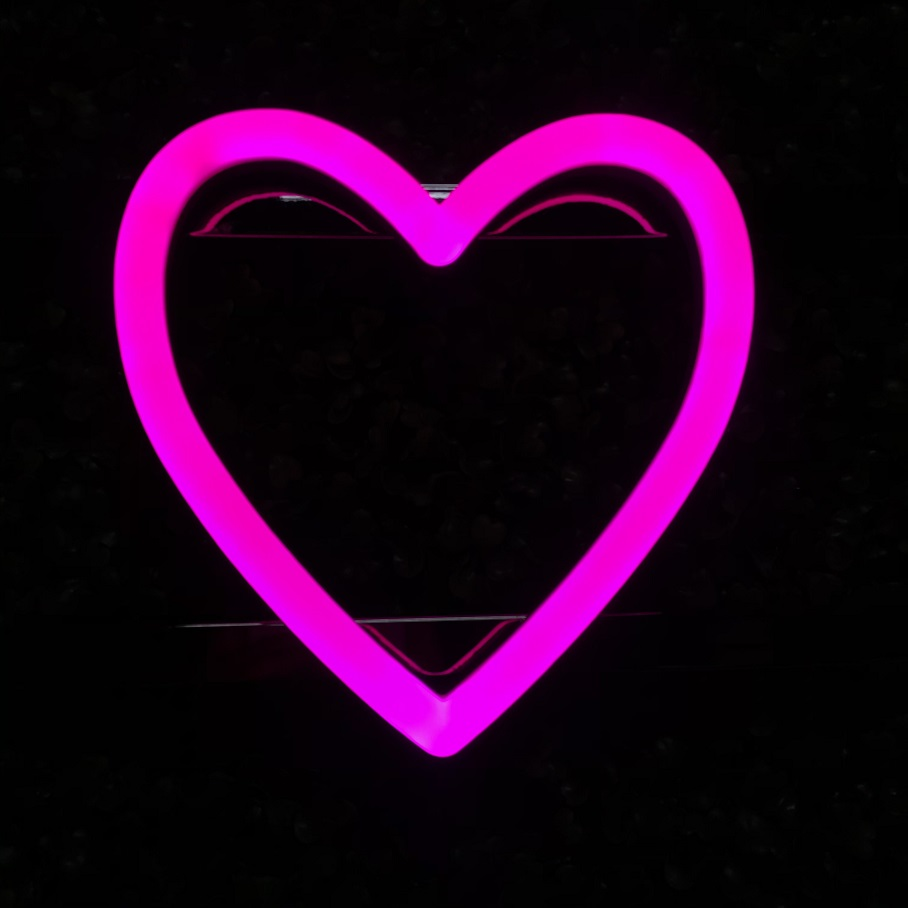 Custom acrylic heart led sign with magnet led neon light 3d led neon alphabet letters sign oem china suppliers