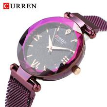 Романтическое звездное небо Алмазный женские часы, Топ Роскошный бренд Curren Magnet женские кварцевые часы, модные женские часы Felame(Китай)
