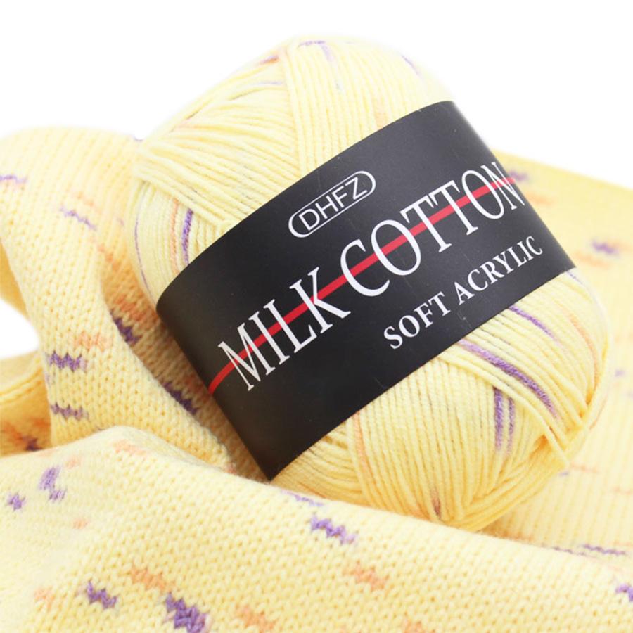 wholesale milk cotton yarn fancy yarn crochet 100% cotton for hand knitting