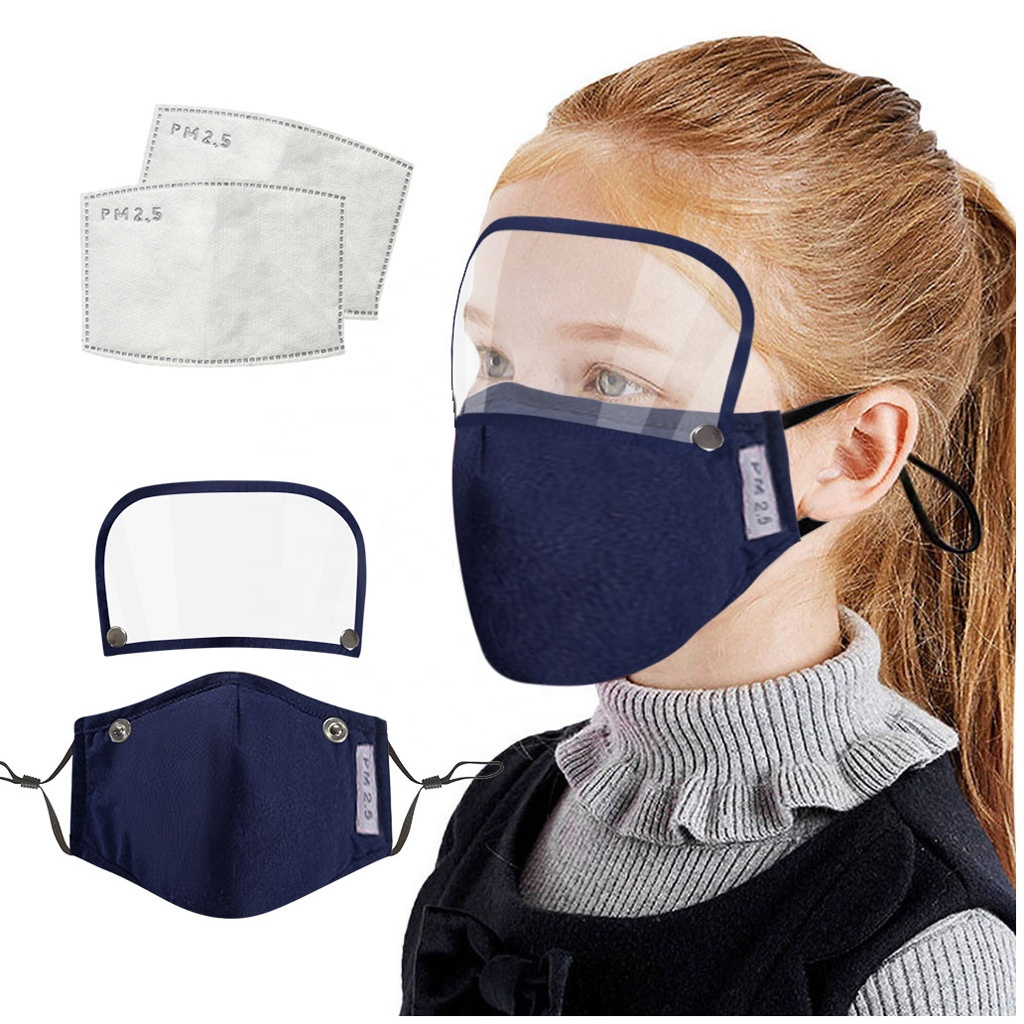ZY-016745 Factory Wholesales Facial Mask Eye Shield Cotton Kids Face Mask Detachable Washable 2 Ply Reusable - KingCare | KingCare.net