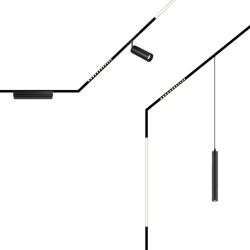 2020 Factory Directly Sell modern home housing adjustable magnetic spotlight LED track light Magnetic rail