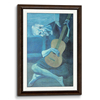 Rope Wooden Frame Walnut Finish(Self Matted In Canvas)