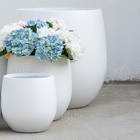 Large Garden Cement Garden Pot Modern White Large Size Lightweight Big Cement Garden Flower Pots Plants Set