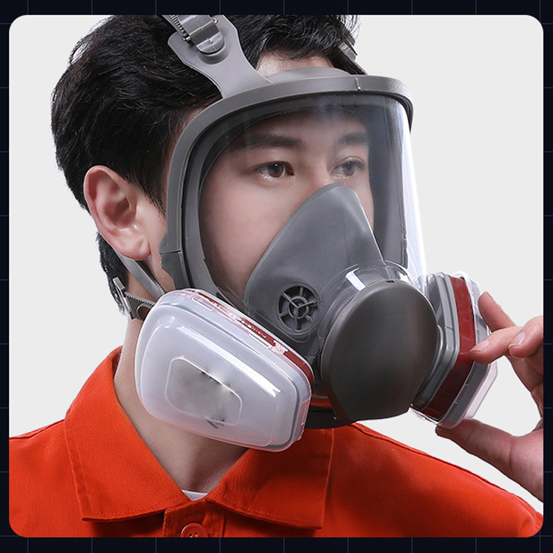 2021 trend 6800 face gas respirator chemical half face gas maskes Filter type dust respirator