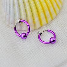 Красочные без пирсинга Пружинные серьги-кольца с зажимом для ушей креативные металлические бусины невидимые клипсы для ушей аксессуары дл...(Китай)