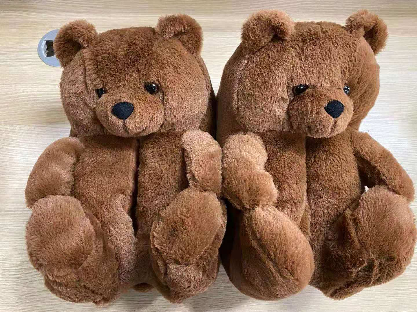 2020 Cheap teddy bear Slippers brown Indoor Lady Shoe Women House Slipper Plush For Girls
