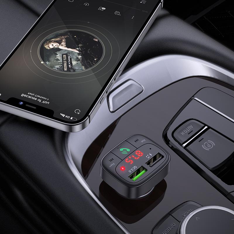 HOCO E59 Dual USB Car Charger Bluetooth FM Transmitter 2