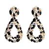 Color 3 rhinestone drop earrings
