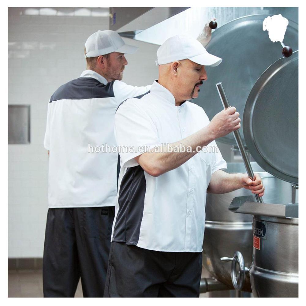 Пальто шеф-повара с белыми пуговицами для ресторанов/пальто шеф-повара с черными пуговицами/куртка шеф-повара