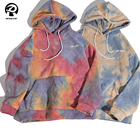 Cotton Hoodie Tie Dye Hoodie Mens Custom Streetwear Unisex Cotton Weighted Acid Wash Mens Tie Dye Hoodie