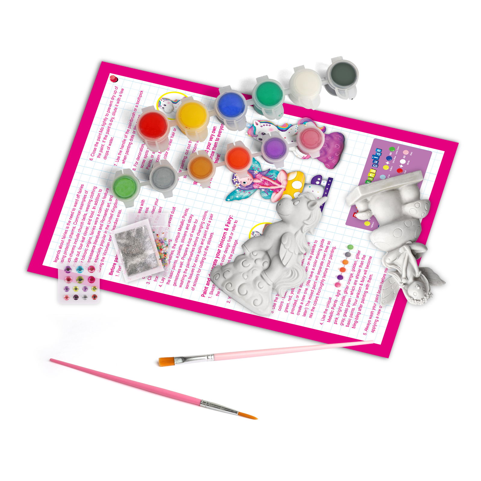 DIY Painting  Unicorn kit art toys drawing toy educational arts crafts color for kids rock other educational Fat Brain Toys