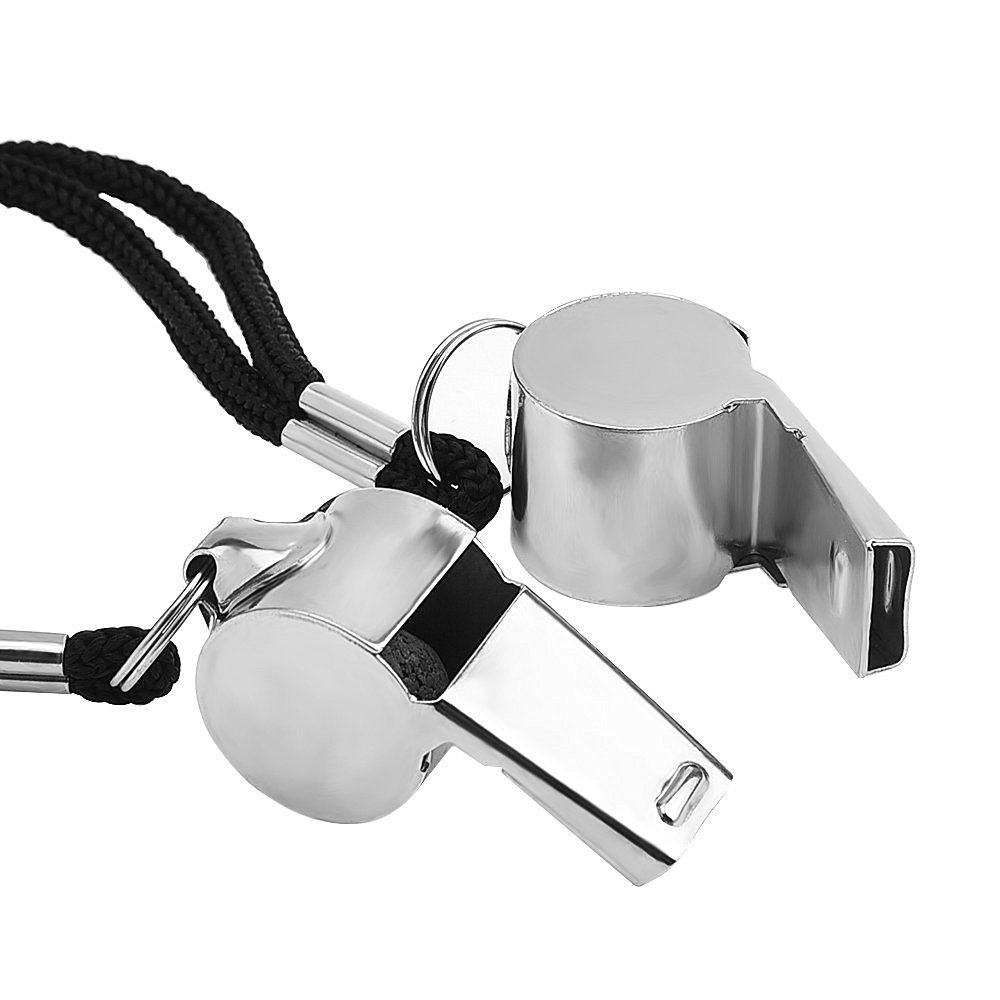 Promotional wholesale metal referee whistle with lanyard