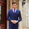 Men royalblue suits(blazer+Vests+pants)