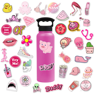 vsco custom hologram hydro flask stickers 50pcs cute cartoon waterproof phone case laptop bottle graffiti sticker for girl gift
