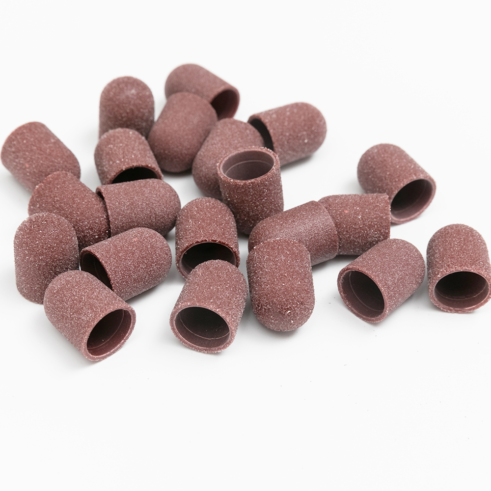 Профессиональный педикюрный шлифовальный колпачок 16*25 мм 80 # материал коричневый Плавленый оксид алюминия горячая Распродажа товары для маникюрного салона