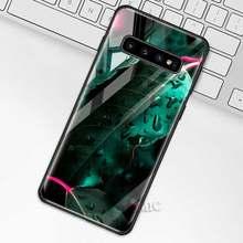 Тропический зеленый Растительный чехол с листьями для samsung Galaxy S10 S10e S9 S8 Plus A70 A50 A30 Note 9 10 + 5G закаленное стекло чехол для телефона Coqu(Китай)