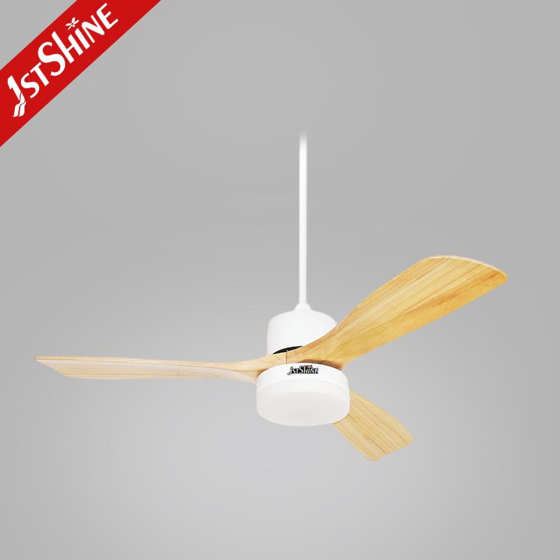 Декоративные потолочные вентиляторы для столовой, деревянные лопасти с регулятором, гладкий потолочный вентилятор с подсветкой