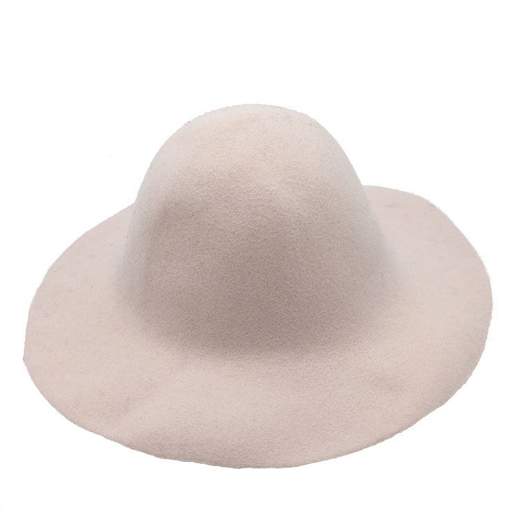 Light Colour 140g Unfinished Wool Capeline Felt Hat Body
