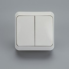 1 2 Switch 2 Way Switch 1 Gang 2 Way EU Standard Surface Mounted Electrical Wall Switch