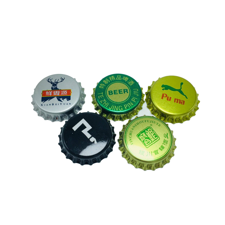 Крышки для бутылок, крышки для бутылок, крышки для белых бутылок для пива, колпачки для бутылок с короной 26 мм для газировки