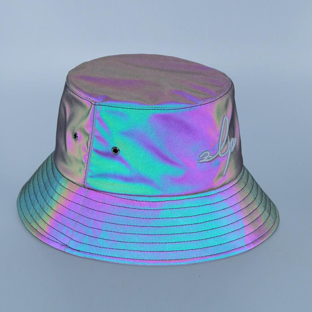 Оптовая продажа, Высококачественная бейсболка на заказ, светоотражающая шляпа с принтом, многоцветная Складная Светоотражающая шляпа, рыболовная Кепка, Панама, шляпы