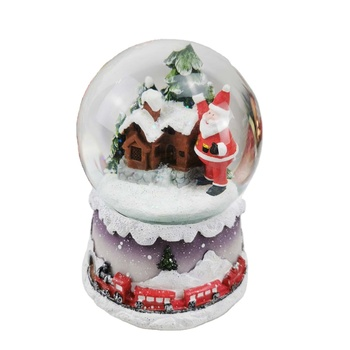 Custom light and music snow globe for Christmas