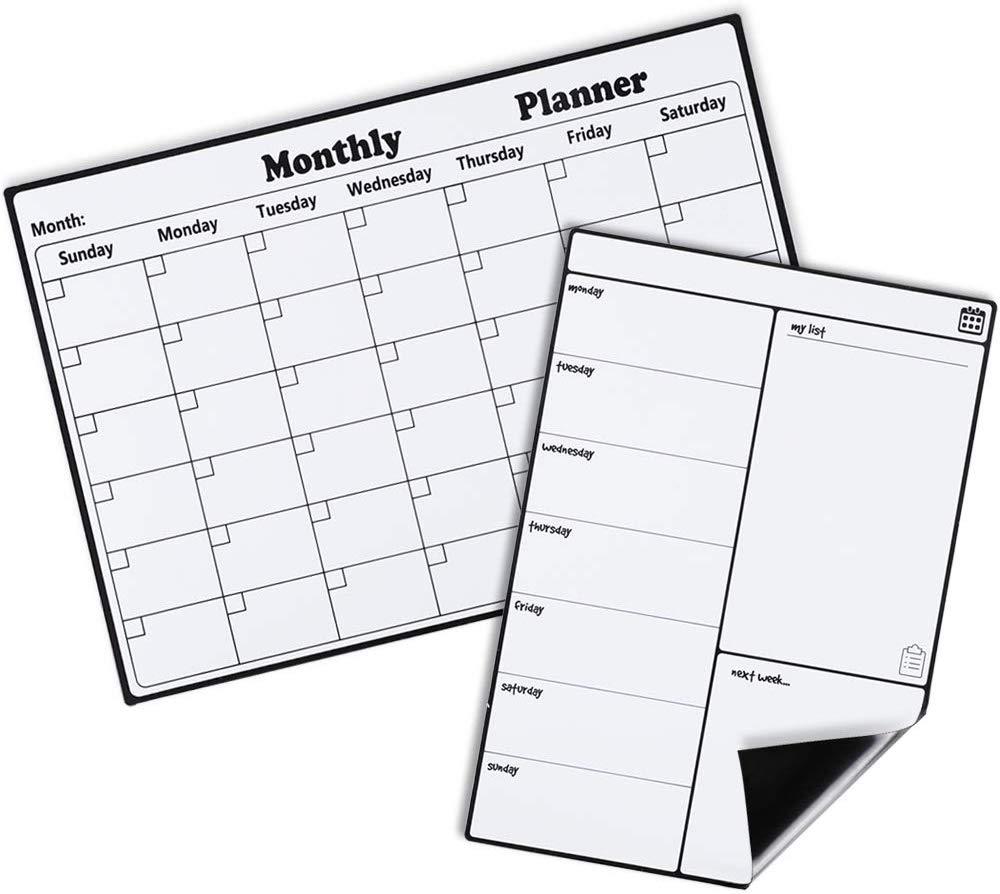 Planner Whiteboard Magnet Calendar For Fridge Acrylic Weekly Magnetic Calendar - Yola WhiteBoard | szyola.net