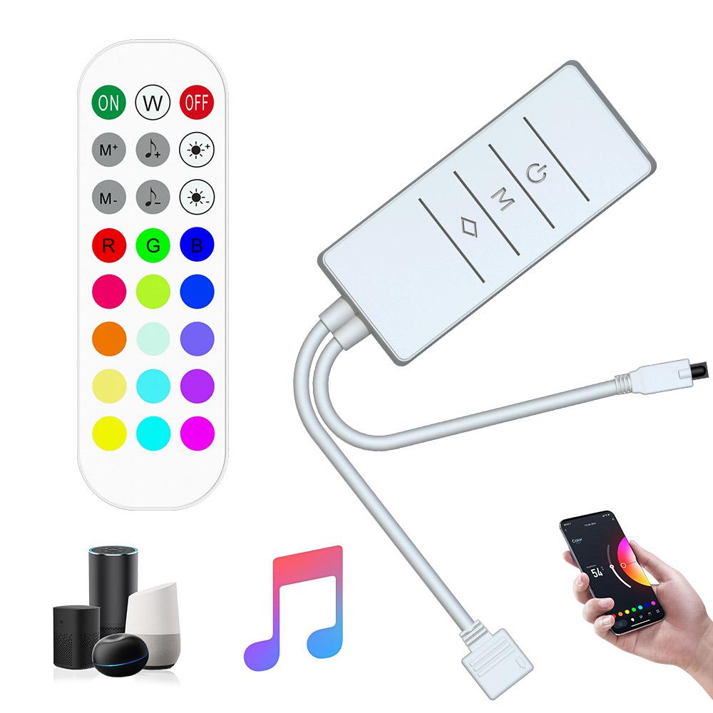 Tuya Smart Magic Home wifi dimmer 5-28V rf remote alexa voice control rgb rgbw rgbwc strips wifi led controller with ir remote