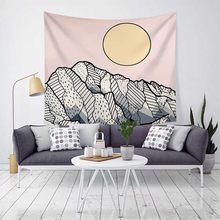 Waves/горы/реки напечатанные настенные гобелены с морским солнцем тотемные гобелены пляжные коврики/ковер художественные картины покрывало ...(Китай)