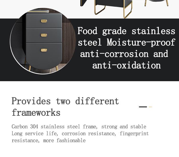Modern wooden bedroom furniture make up mirrorde dresser with drawers