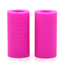 2 шт толстые гантели жировые штанги ручки для тяжелой атлетики поддержка силиконовых Противоскользящих защитных подушек для бодибилдинга(China)