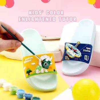 Hot Sale Manufacturer House Children's Soft Interest DIY Painting Dress Kids Children Slippers