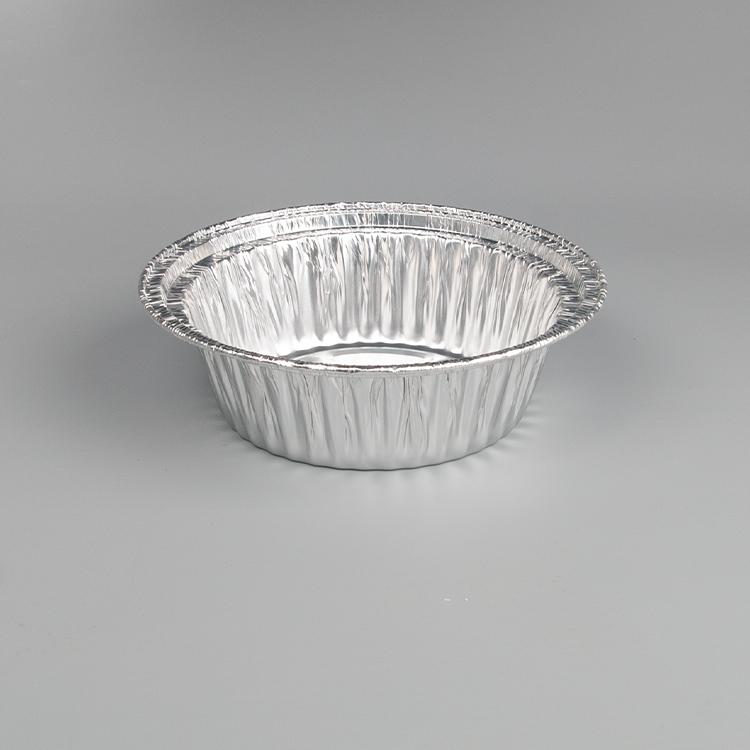 Круглый алюминиевый одноразовый контейнер для еды из оловянной фольги