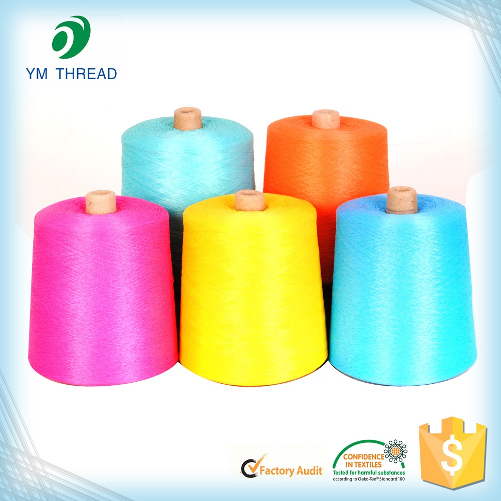 150D/36F Cone Dyed Polyester Yarn 150D With Thousands of Colors Polyester Dyed Yarn