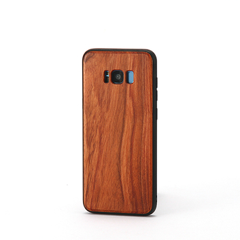 mobile phone case High quality bamboo and wood mobile phone shell with TPU protective cover For Samsung S8